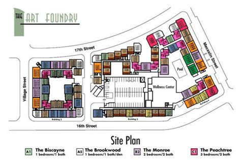 The Parc Condo Floor Plan by The Art Foundry Condominiums Atlantic Station Condos For Sale