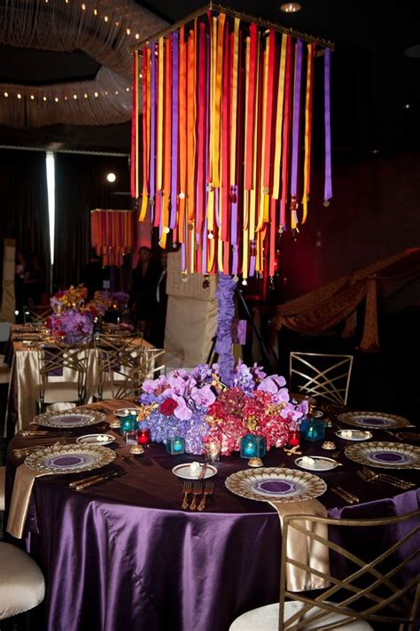themed table decor moroccan themed wedding table decor purple and gold with