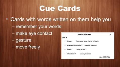 cue card template for speech speaking ppt speech power