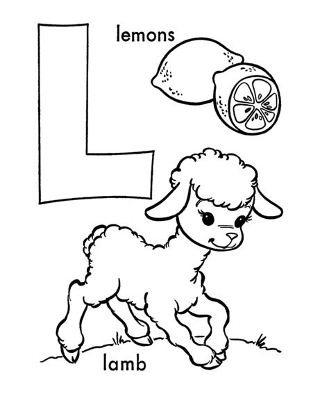 The Letter L Coloring Pages letter l coloring pages az coloring pages