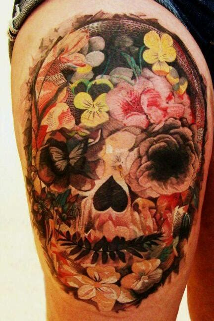 skull tattoo designs with flowers skull made of flowers best home decorating ideas