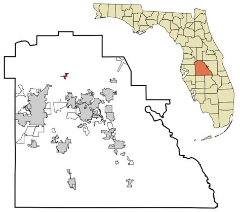 Polk County Fl Records File Polk County Florida Incorporated And Unincorporated Areas Polk City Highlighted