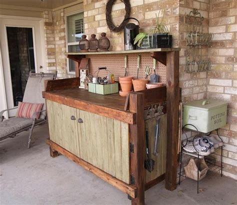 potting bench ideas pallet potting bench plans pallet wood projects