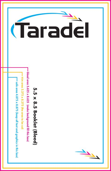 template for 5x8 card taradel booklets catalogs templates