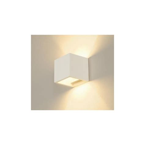 applique cubo clicson applique cubo in gesso verniciabile led 5w