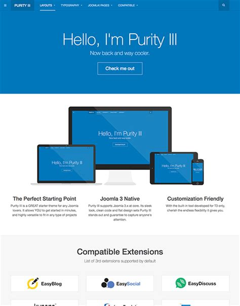 purity iii the best free responsive joomla template