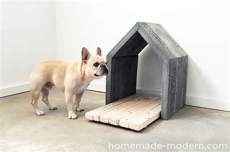how to build a small dog house out of wood dog i y how to make a modern concrete dog house dog milk