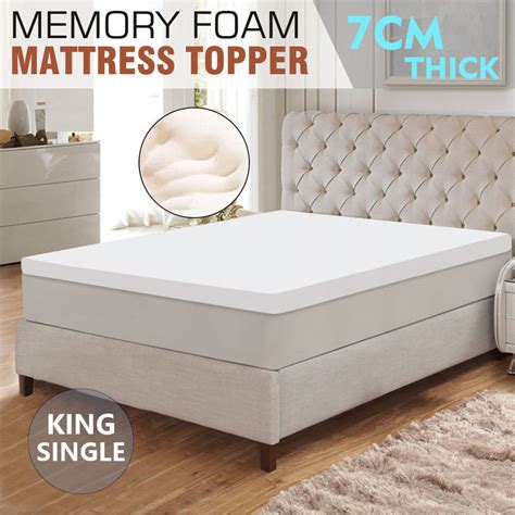 Single Bed Memory Foam Mattress Topper King Single Memory Foam Mattress Topper White 7cm Buy King Size Mattress Toppers