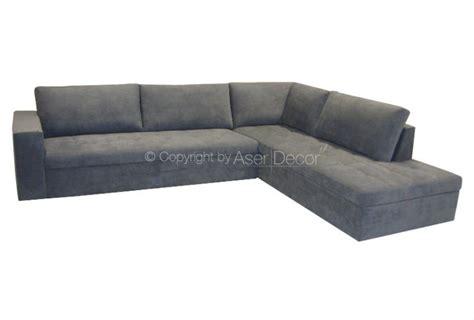 sofas em l sof 225 em l canto cigalic linho cinza sala de estar