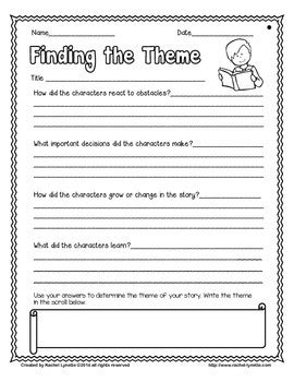 theme graphic organizer school planning juxtapost theme freebie by rachel lynette teachers pay teachers