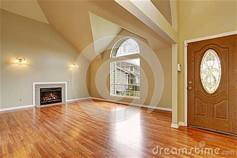 Empty Living Room Window Empty Living Room With Fireplace Nd Big Arch Window Stock