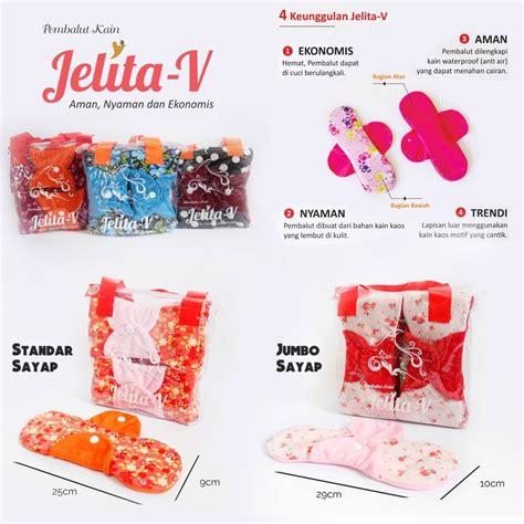 Seprei Ukuran 90x200t25 Katun Jelita menstrual pads pembalut kain jelita v jumbo sayap motif anti bocor