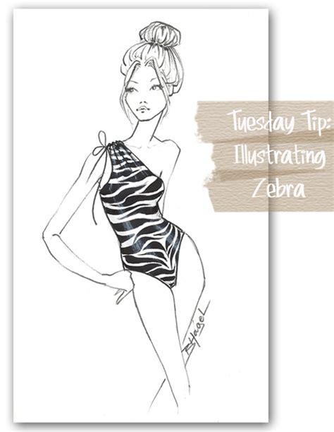 zebra pattern illustrator tutorial fabulous doodles fashion illustration blog by brooke hagel