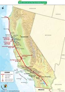 what cities are on the san andreas fault answers