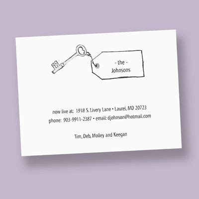 moving house cards template such a change of address card products i
