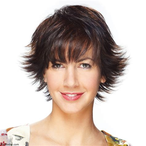 short haircuts with crown volume short hair cut with feathery texture and styled with