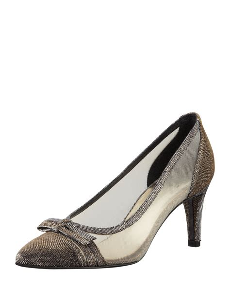 stuart weitzman shoes stuart weitzman womens scenic metallic mesh evening shoe