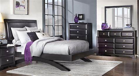 belcourt black  pc king platform bedroom king bedroom sets black