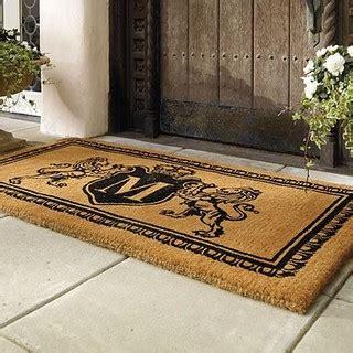 monogram front door mat crest monogram door mat traditional doormats by