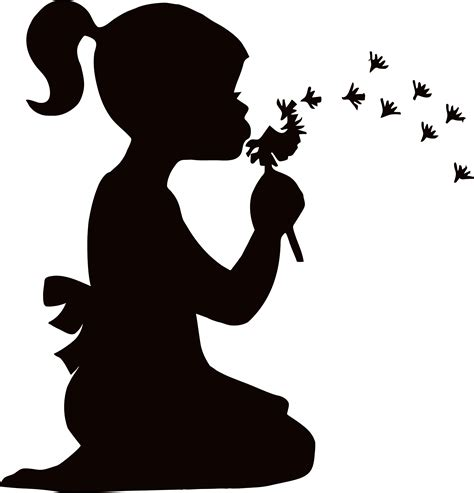 Ballet Wall Stickers dandelion clip art black and white clipart best