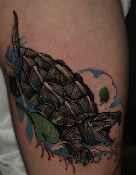 black tortoise tattoo black ink evil turtle design for sleeve
