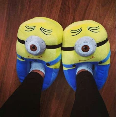Minion Slippers Clothes Pinterest