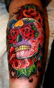 colorful skull tattoos colored skull design of tattoosdesign of tattoos