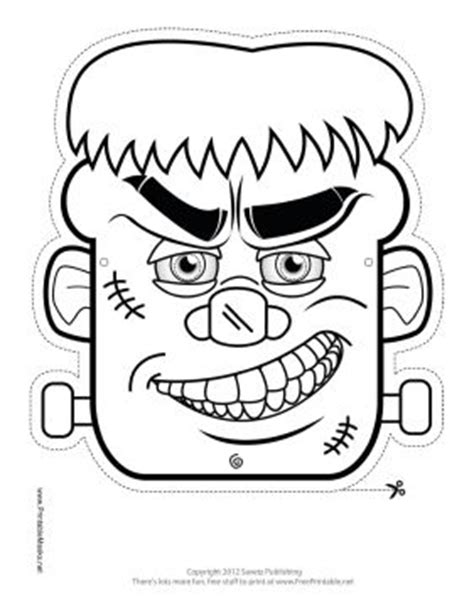 printable monster mask template frankenstein s monster frankenstein and masks on pinterest
