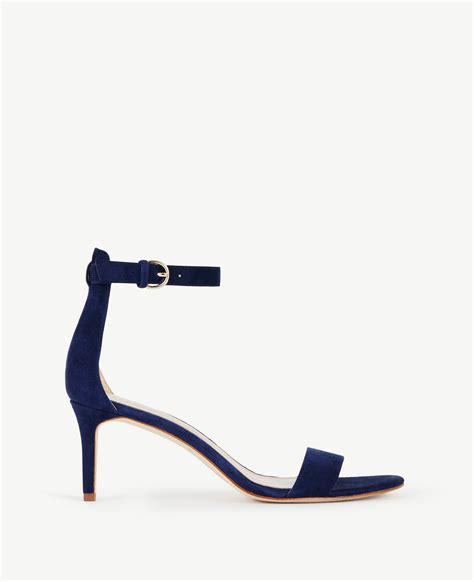 kaelyn suede strappy sandals in blue lyst