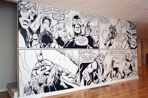 comic wall mural pin by steven carroll on cave for ug