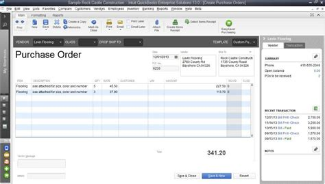 Purchasing Vendors How To Customize Purchase Order Template In Quickbooks