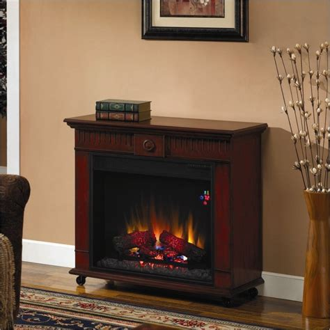 free standing fireplace classic strasburg free standing vintage cherry electric fireplace