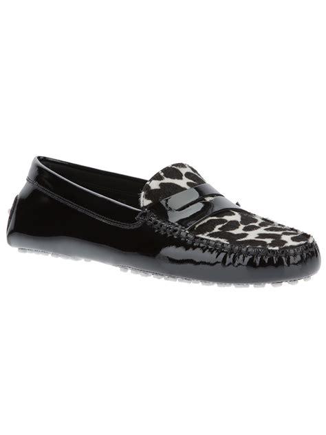womens leopard loafers selma blair leather slip on shoes vs garner