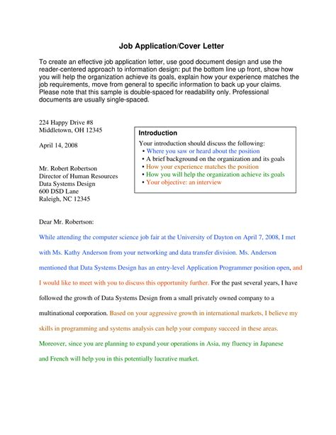 professional cover letter examples examples