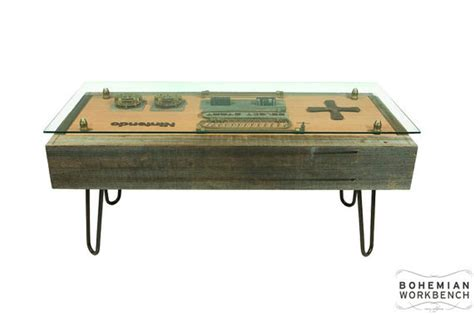 nintendo coffee table nintendo coffee table made from recycled guns and clocks