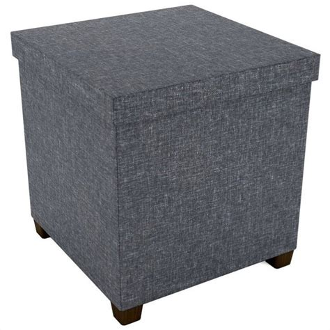 dark grey ottoman storage ottoman in dark gray 67336041