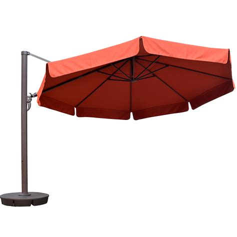 13 patio umbrella island umbrella 13 ft octagonal cantilever w