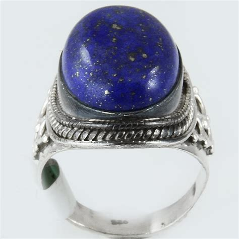 size 7 5 lapis ring sterling silver mystic blue kashmir