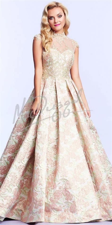 Dress Jacquard Gown 9 floral jacquard gown dresses by mac duggal