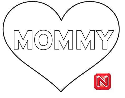 free coloring pages of i love my mom