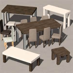 everyday items furniture collection 1 3d models 2nd world
