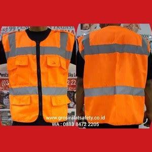 Rompi Safety Bahan Drill Kombinasi jual rompi proyek bahan kain drill orange harga murah jakarta oleh cv tugu permata
