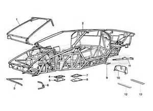 Lamborghini Chassis Plans Lamborghini Countach 25th 1989 Gt Bodywork