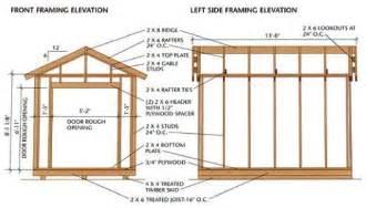 Backyard Shed Ideas by Garden Shed Construction Drawings 187 Backyard