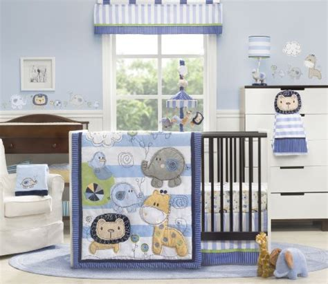 Kids Line 4 Piece Crib Bedding Set Jungle Doodle Baby Top Of The Line Baby Cribs