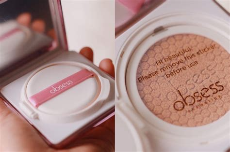 review obsess cosmetics cushion foundation