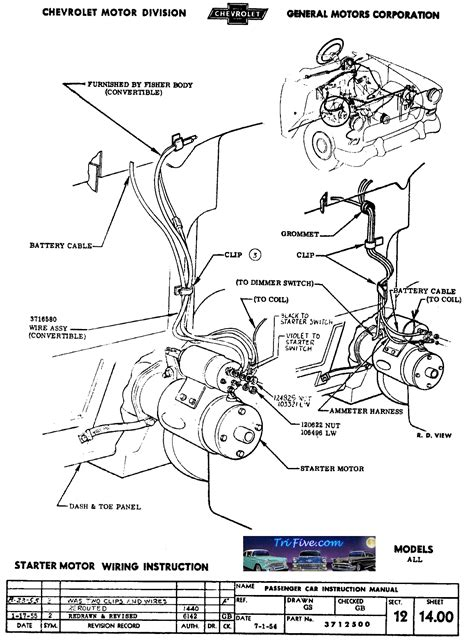 1957 chevy truck ignition switch wiring diagram 1957
