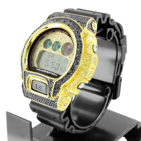G Shock Ga200 Black Gold 1000 images about custom iced out casio gshock dw6900