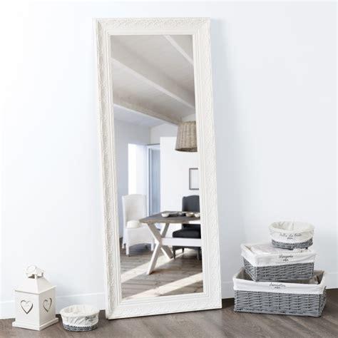miroir dans la chambre miroir en paulownia blanc h 145 cm maisons du