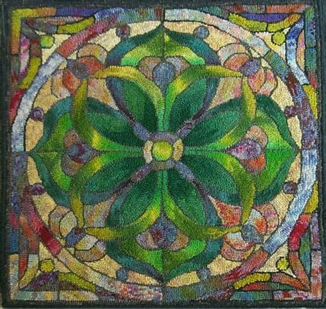 locker hook rug patterns 16 best images about stained glass rugs on